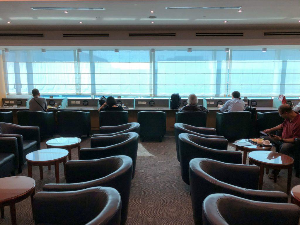JAL桃園空港ラウンジの休憩スペース
