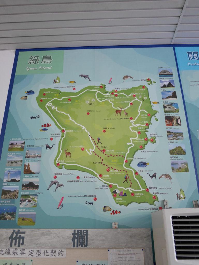 緑島の地図