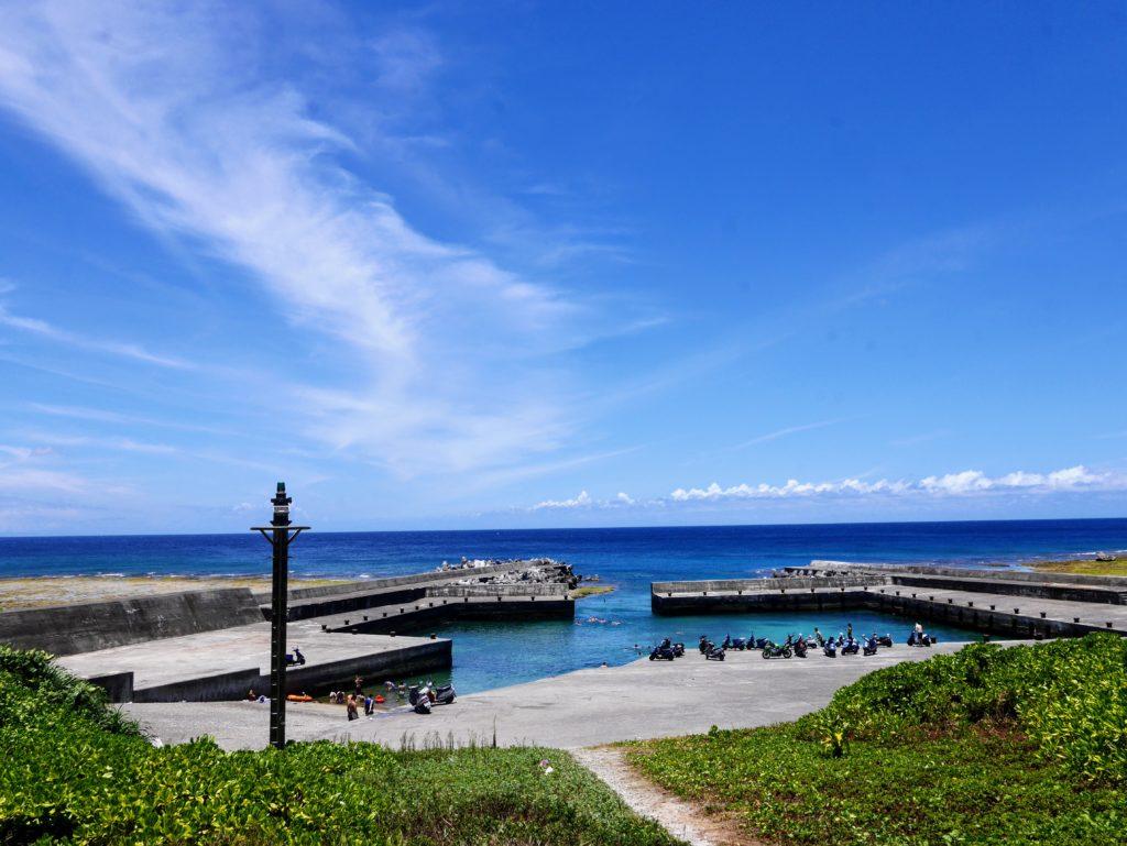 緑島の海と空