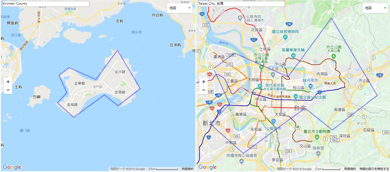金門島の大きさ