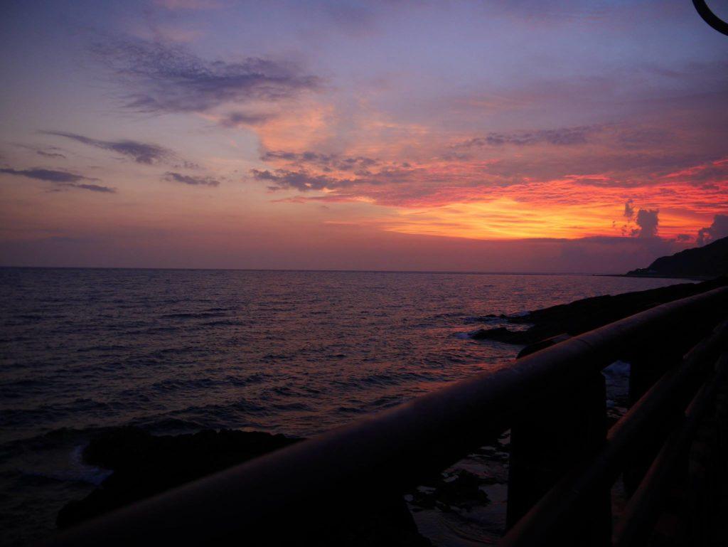 緑島の夕焼け