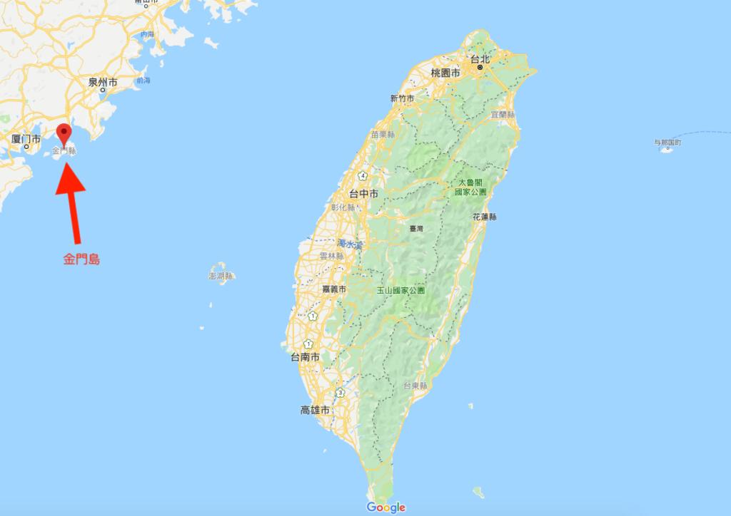 金門島の位置