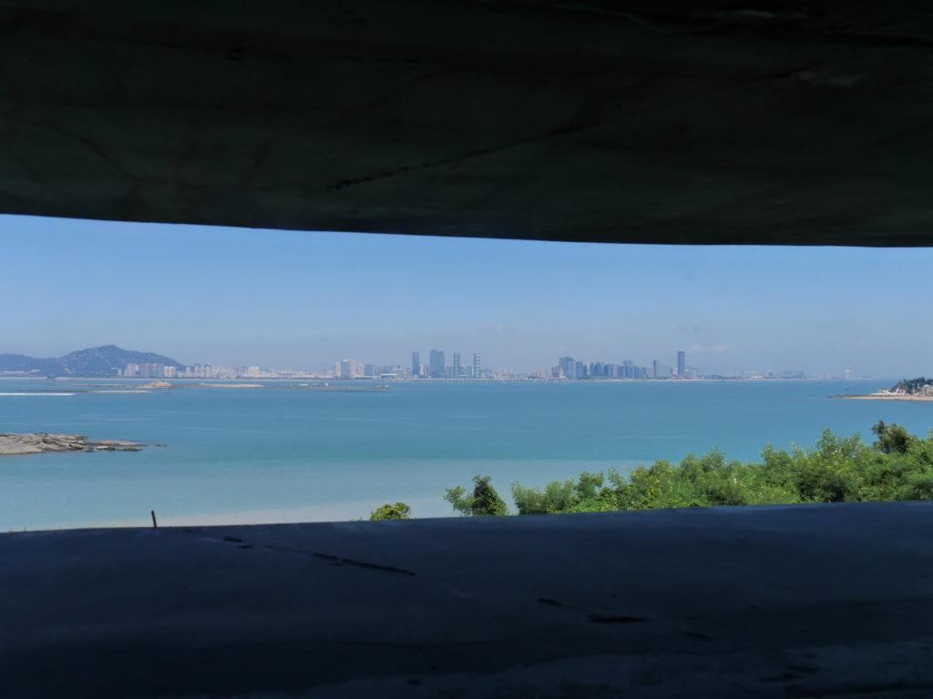 湖井頭から廈門を見る