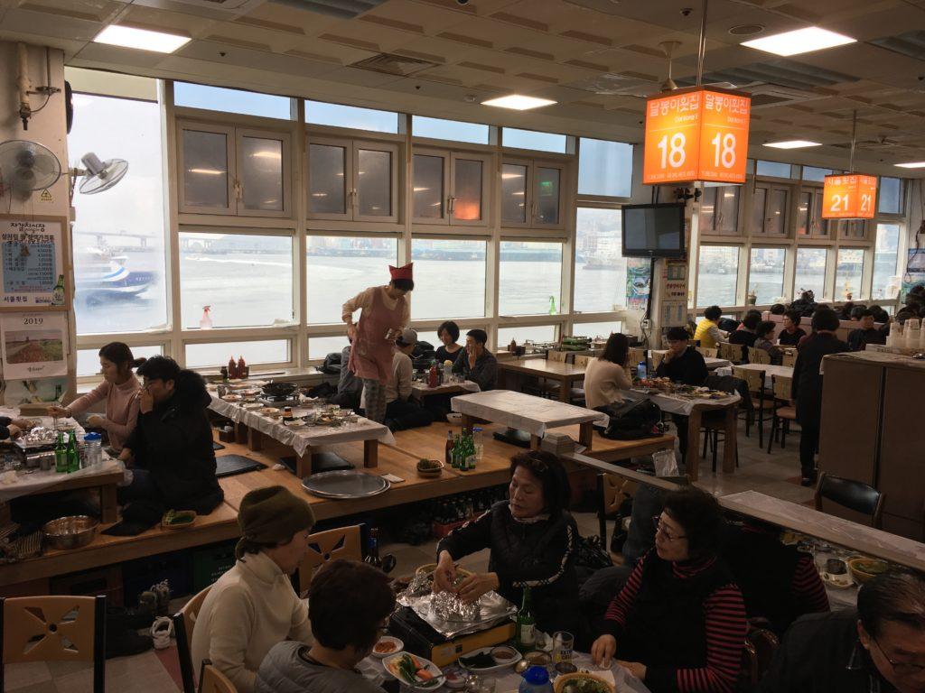 韓国の海鮮市場
