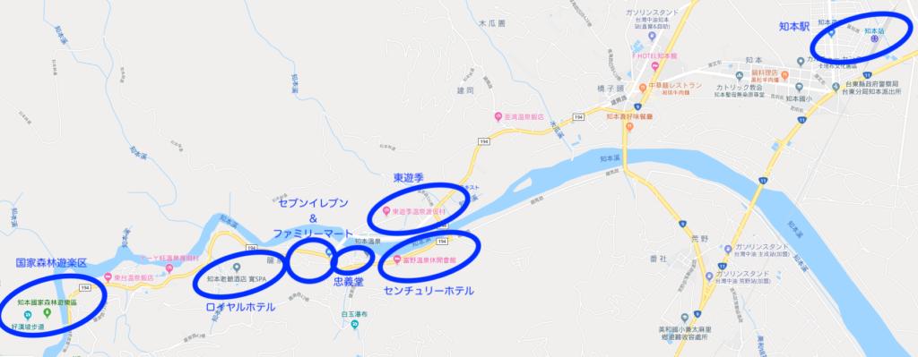 知本温泉の地図