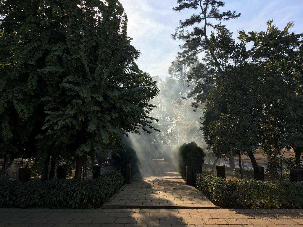 インド平和記念碑の途中