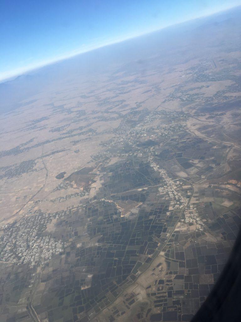インパール発コルカタ行きの機内からの様子
