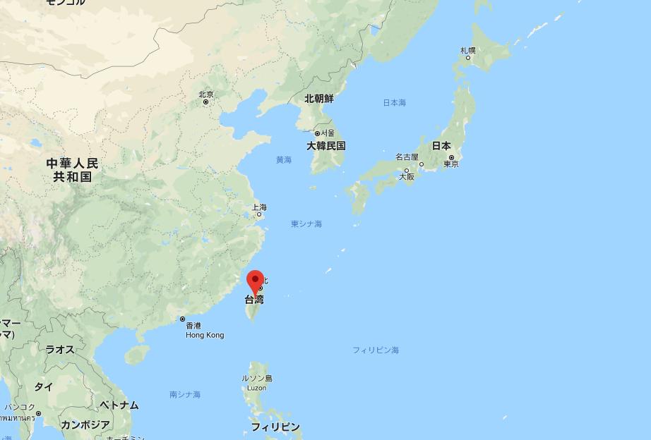 台湾の位置