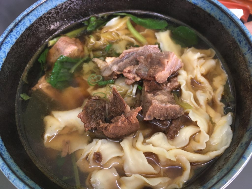 不二麺館の牛肉麺