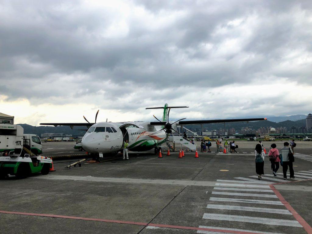 松山空港の飛行機
