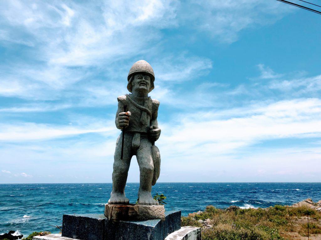 蘭嶼の原住民、タオ族の像