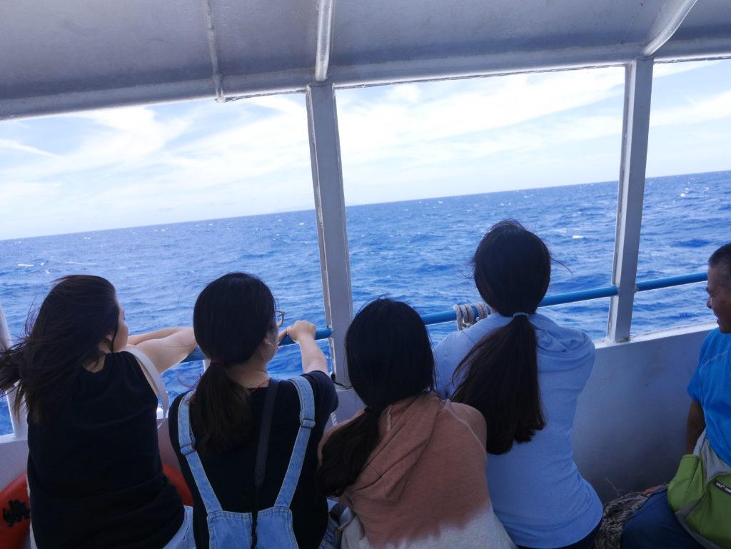 蘭嶼行きの船