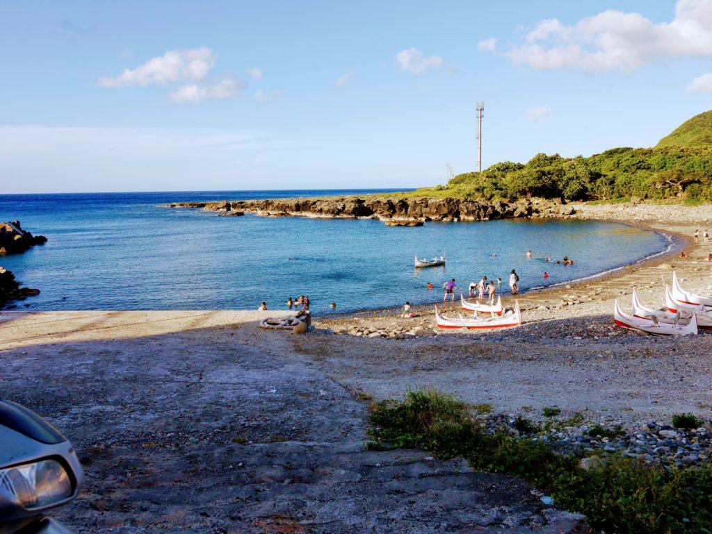 蘭嶼のビーチ