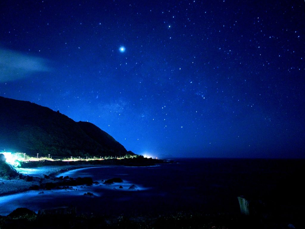 虎頭坡から小蘭嶼の方向の夜景