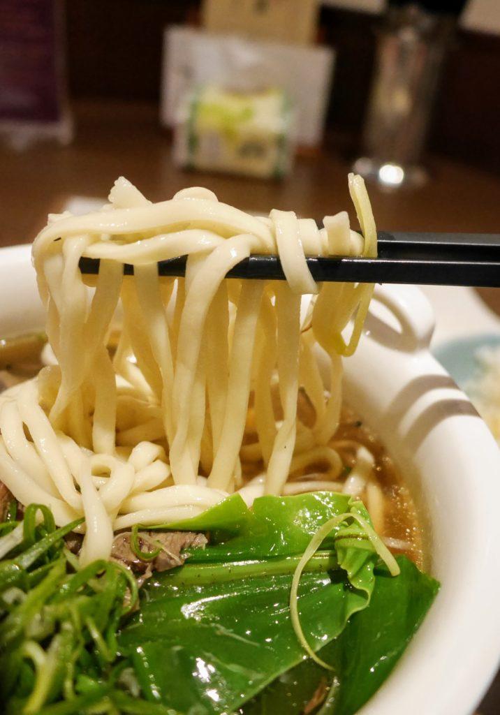 府城晶華の名物牛肉麺の麺