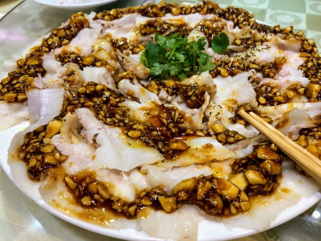 樺慶川菜餐廰の酸泥白肉