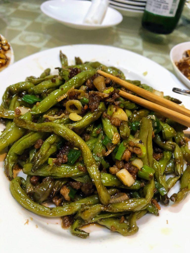 樺慶川菜餐庁のインゲン