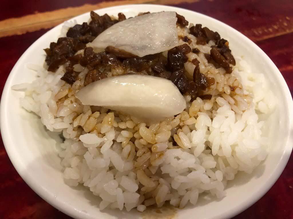 府城台南美食の魯肉飯